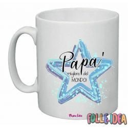 """Tazza Mug Idea Regalo per il papà \\""""migliore del mondo\\"""" tzpp001"""
