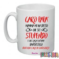 """Tazza Mug Idea Regalo per il papà \\""""non vedo l'ora di conoscerti\\"""" tzpp002"""