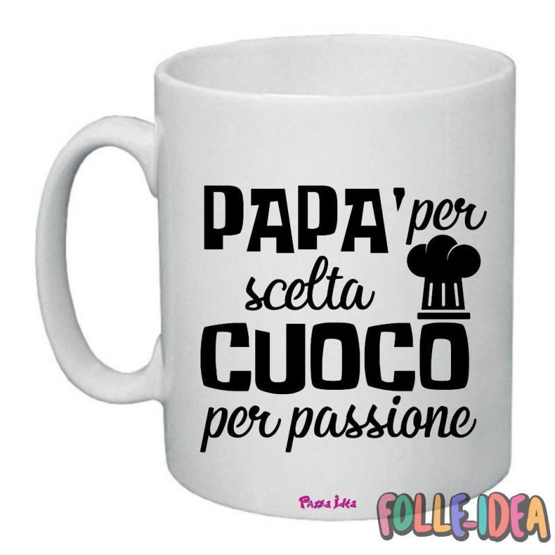 """Tazza Mug Idea Regalo per il papà \\""""cuoco per passione\\"""" tzpp003"""