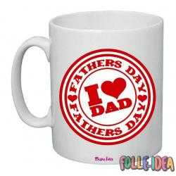 Tazza Mug Idea Regalo per il papà -i love dad- tzpp007