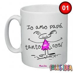 Tazza Mug Idea Regalo per il papà -amo papà tanto così- tzpp008