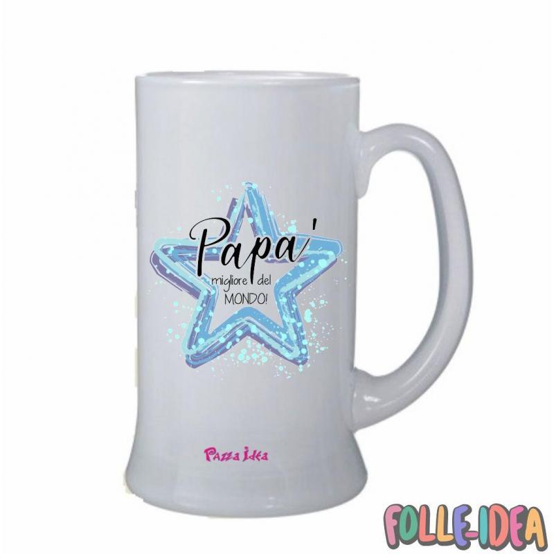 Boccale Idea Regalo per il papà -migliore del mondo- bclpp002