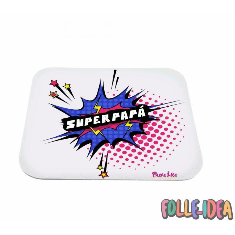 "MousePad Rettangolare Idea Regalo per il papà \\""superpapà\\"" mspdpp003"