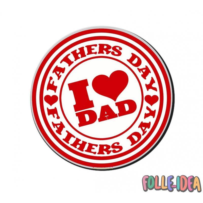 "MousePad Rotondo Idea Regalo per il papà \\""I Love Dad\\"" mspdpp011"