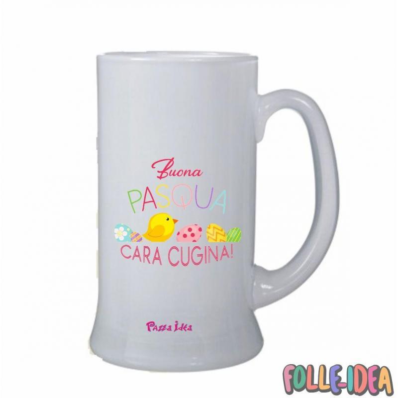 Boccale Idea Regalo per pasqua -Cugina- bclpsq004