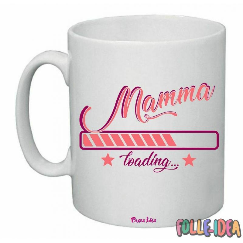 """Tazza Mug Idea Regalo per la Mamma \\""""loading\\"""" tzmm003"""