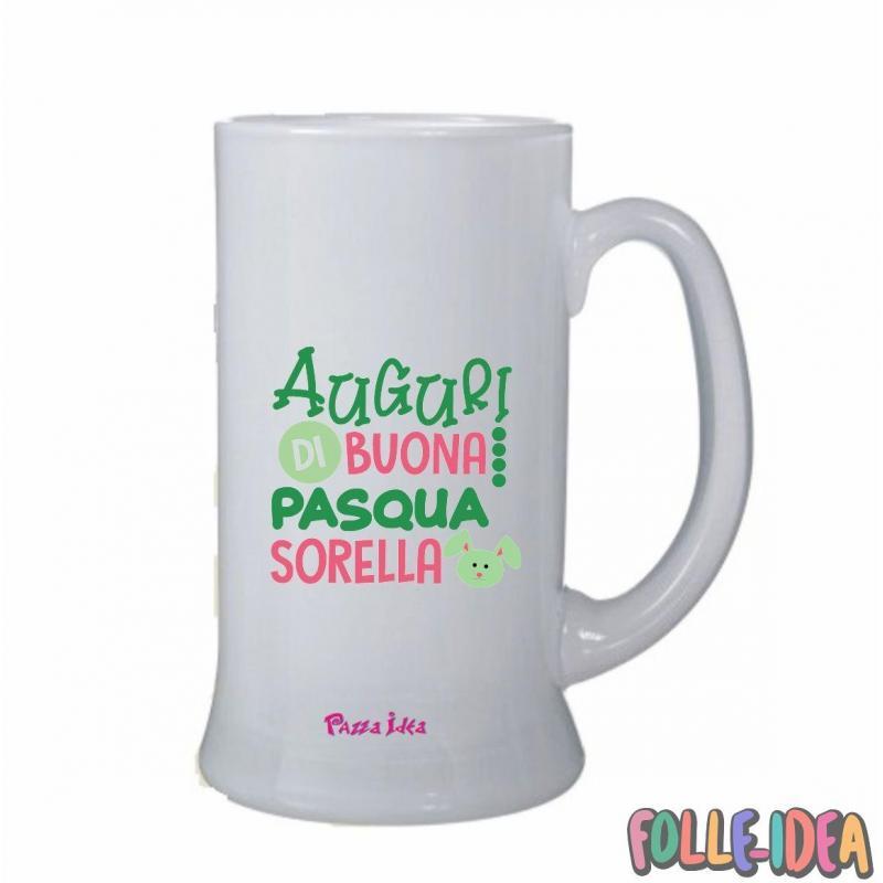Boccale Idea Regalo per pasqua -Sorella- bclpsq014