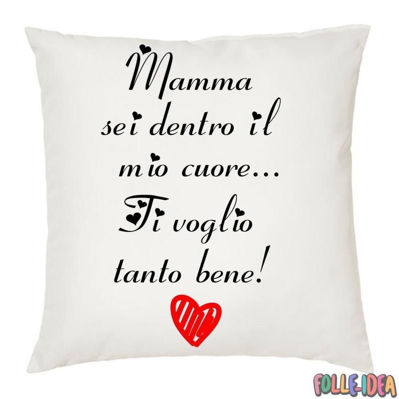 """Cuscino Idea Regalo per la Mamma \\""""ti voglio bene\\"""" csnmm001"""
