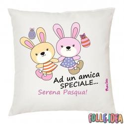 Cuscino Idea Regalo per pasqua -amica speciale- csnpsq001