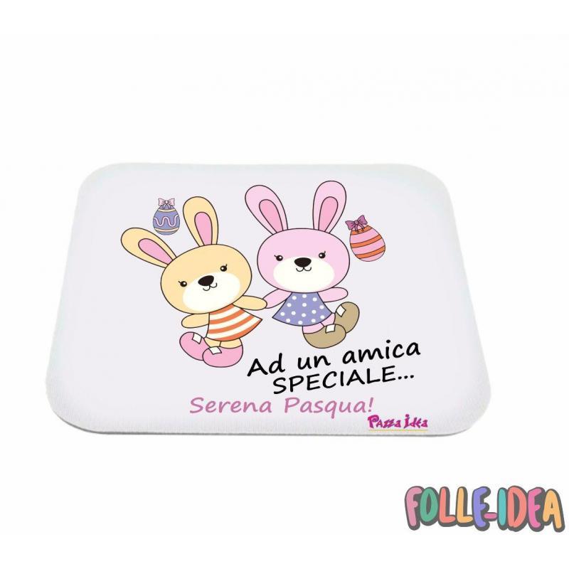 MousePad Rettangolare Idea Regalo per pasqua -amica speciale- mspdpsq001
