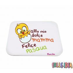 MousePad Rettangolare Idea Regalo per pasqua -mamma- mspdpsq003