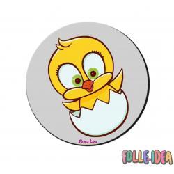 MousePad Rotondo Idea Regalo per pasqua -pulcino- mspdpsq011