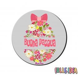 MousePad Rotondo Idea Regalo per pasqua -Buona Pasqua- mspdpsq013