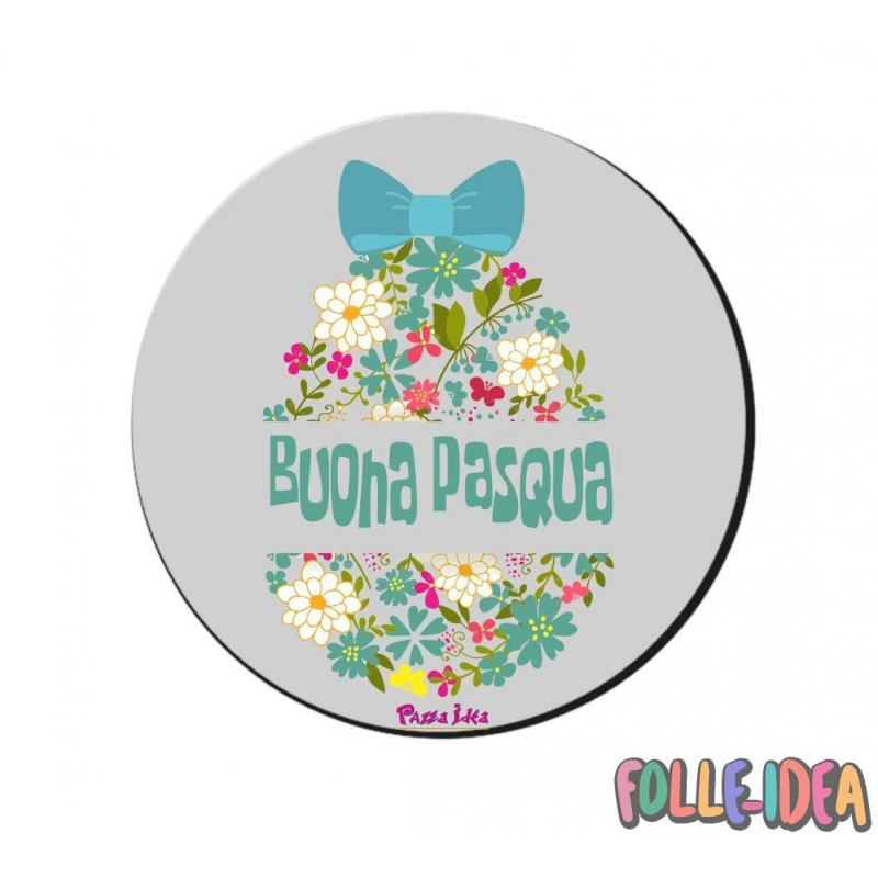 MousePad Rotondo Idea Regalo per pasqua -Buona Pasqua- mspdpsq014