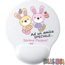 MousePad Rotondo con Poggia Polso Idea Regalo per pasqua -Amica Speciale- mspdpsq015
