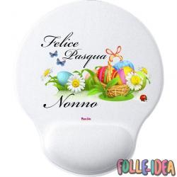 MousePad Rotondo con Poggia Polso Idea Regalo per pasqua -nonno- mspdpsq020