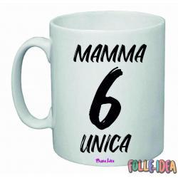 """Tazza Mug Idea Regalo per la Mamma \\""""sei unica\\"""" tzmm009"""