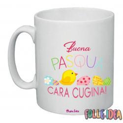 Tazza Mug Idea Regalo per la pasqua -cugina- tzpsq004