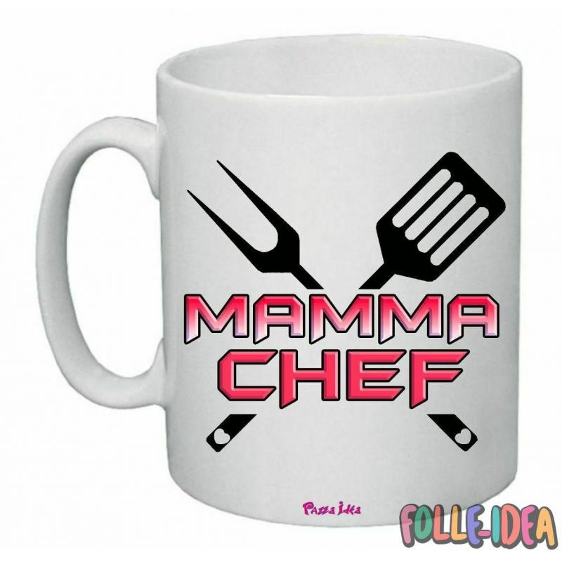 "Tazza Mug Idea Regalo per la Mamma \""chef\\"" tzmm014"
