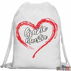 Zainetto a Sacca con Corde Idea Regalo per la maestra zntscmstr005