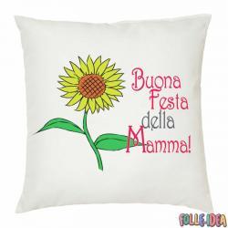 """Cuscino Idea Regalo per la Mamma \\""""girasole\\"""" csnmm007"""