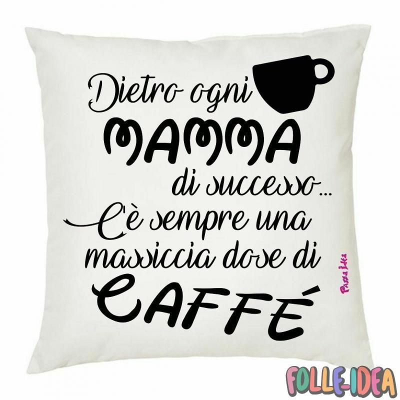 """Cuscino Idea Regalo per la Mamma \\""""caffè\\"""" csnmm008"""
